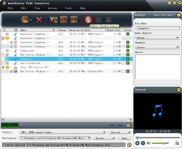 FLAC to MP3 Convert