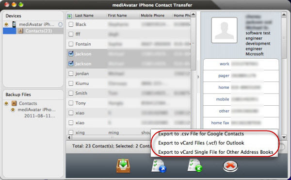 Syn iPhone contacts to gmail