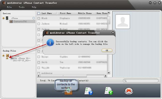How to restore iPhone contacts