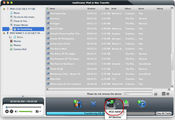 Share iPod music on Mac