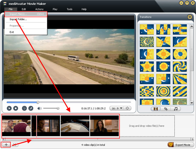 how to load movies into movie maker