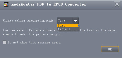Convert PDF files to EPUB